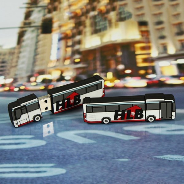Best personalised soft pvc scholl bus design usb 2.0 memory stick flash drives