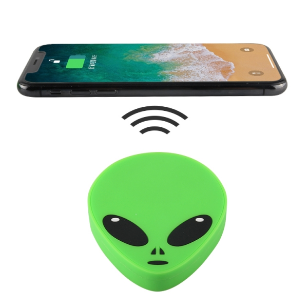 Creative Customised Alien 2D moulded silicone pvc wireless charger pad