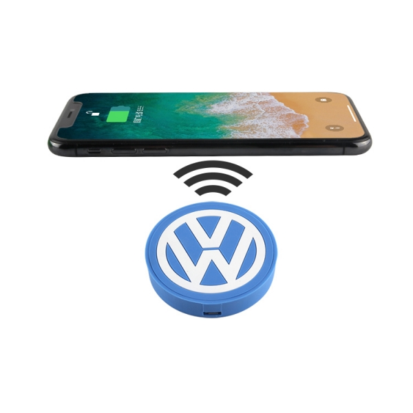 Custom fast 5W PVC Wireless Charging Charger Pad for gifts