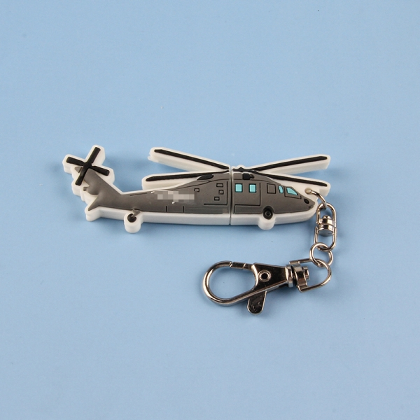 Custom logo Helicopter shape corporate gift promotional keychain advertising gift 4gb usb flash drive memory stick u disk