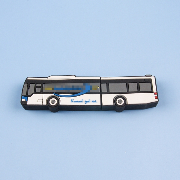 Custom logo bus shape promotional gift items corporate gift portable business gift usb disk usb flash drive memory stick
