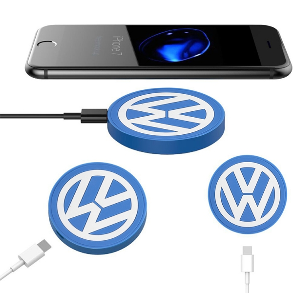 Customized VW 2d maded pvc wireless charger pad 5V 1A