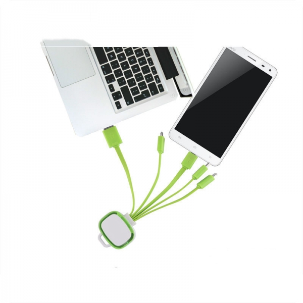 Glow mobile phone multi usb charging  cable with customized logo