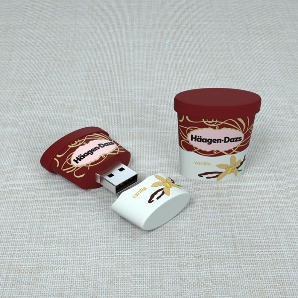 Haagen-Dazs Ice-cream Shape PVC Brand USB Stick Pen Drive Supplier