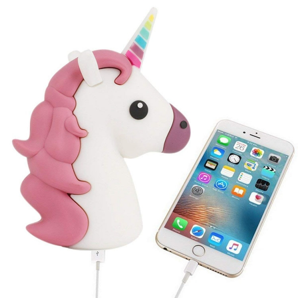 Personalised logo unicorn molded  2600mah portable power bank charger with company logo
