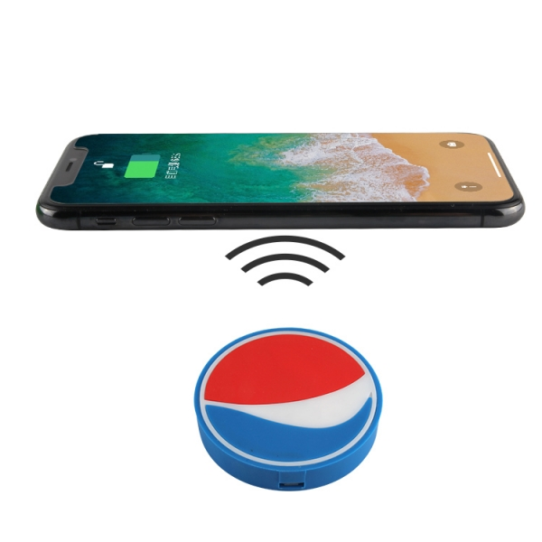 Personalized Pepsi shaped 5W wireless charging charger pad