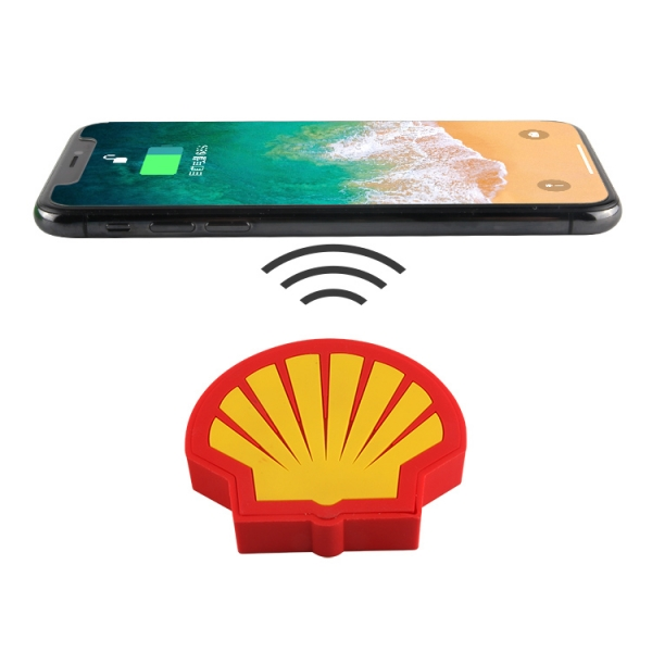 Qi certified pvc cellphone wireless charger charging pad custom logo