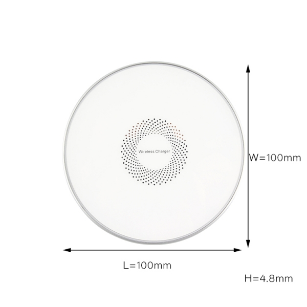 Shenzhen 10w fast custom logo design metal wireless charger pad