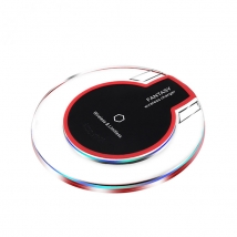 China Best baseus transparent 5W custom logo wireless charger pad  for samsung and iphone factory