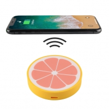 Creative 2D Fruit Lemon Shaped  iPhone PVC Wireless Charger Pad with Logo