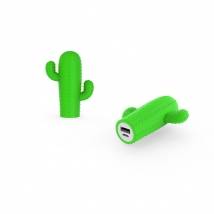 China Custom cactus molded 2200mah soft pvc power bank factory
