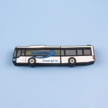 China Custom logo bus shape promotional gift items corporate gift portable business gift usb disk usb flash drive memory stick factory