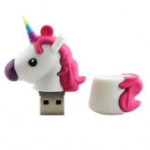 China Customised White Unicorn shaped USB 2.0 / 3.0  Flash Drive 32gb memory stick USA factory