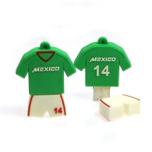 China Customized  T-shirt 2D Moulded PVC USB 2.0 Thumb Flash Drive 32GB factory