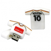China Customized t-shirt sports shape usb stick pvc usb flash drive factory