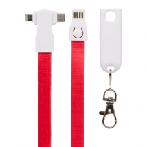 China Lenny lanyard 3 in 1 charging cable for iphone micro usb & type c factory