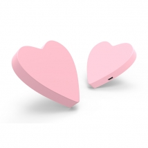 China Personalized OEM Soft PVC heart shape wireless charger factory