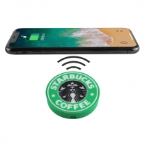 China Personalized strarbucks 5w wireless charger charging pad with Qi standard factory