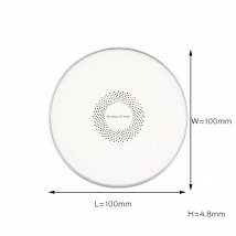China Shenzhen 10w fast custom logo design metal wireless charger pad factory