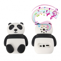 Silicone PVC Custom 3D Cute Panda Shaped  Bluetooth Speaker